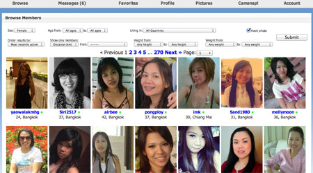 Search for Thai ladies in Bangkok